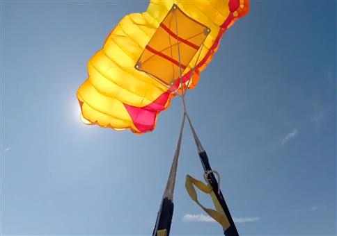 Doppeltes Problem beim Fallschirmsprung