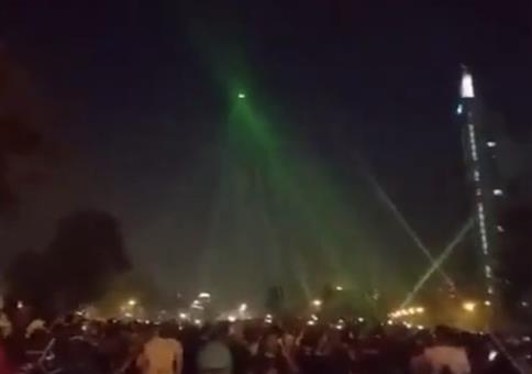 Polizei-Drohne vom Himmel lasern