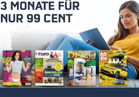 3 Monate Readly Magazin-Flat für einmalig 0,99€