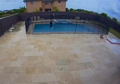 Aquaplaning auf dem Pool