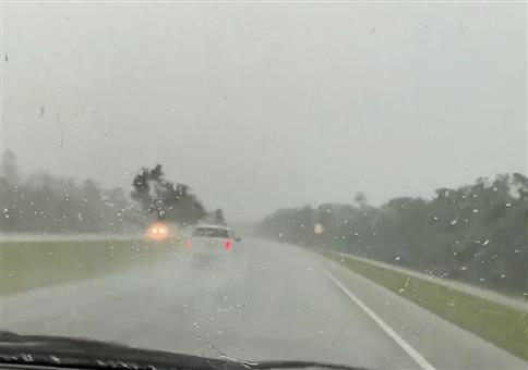 Autofahrt gefilmt, als plötzlich...