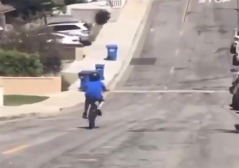 Wenn die Mülltonnen aus dem Nichts kommen