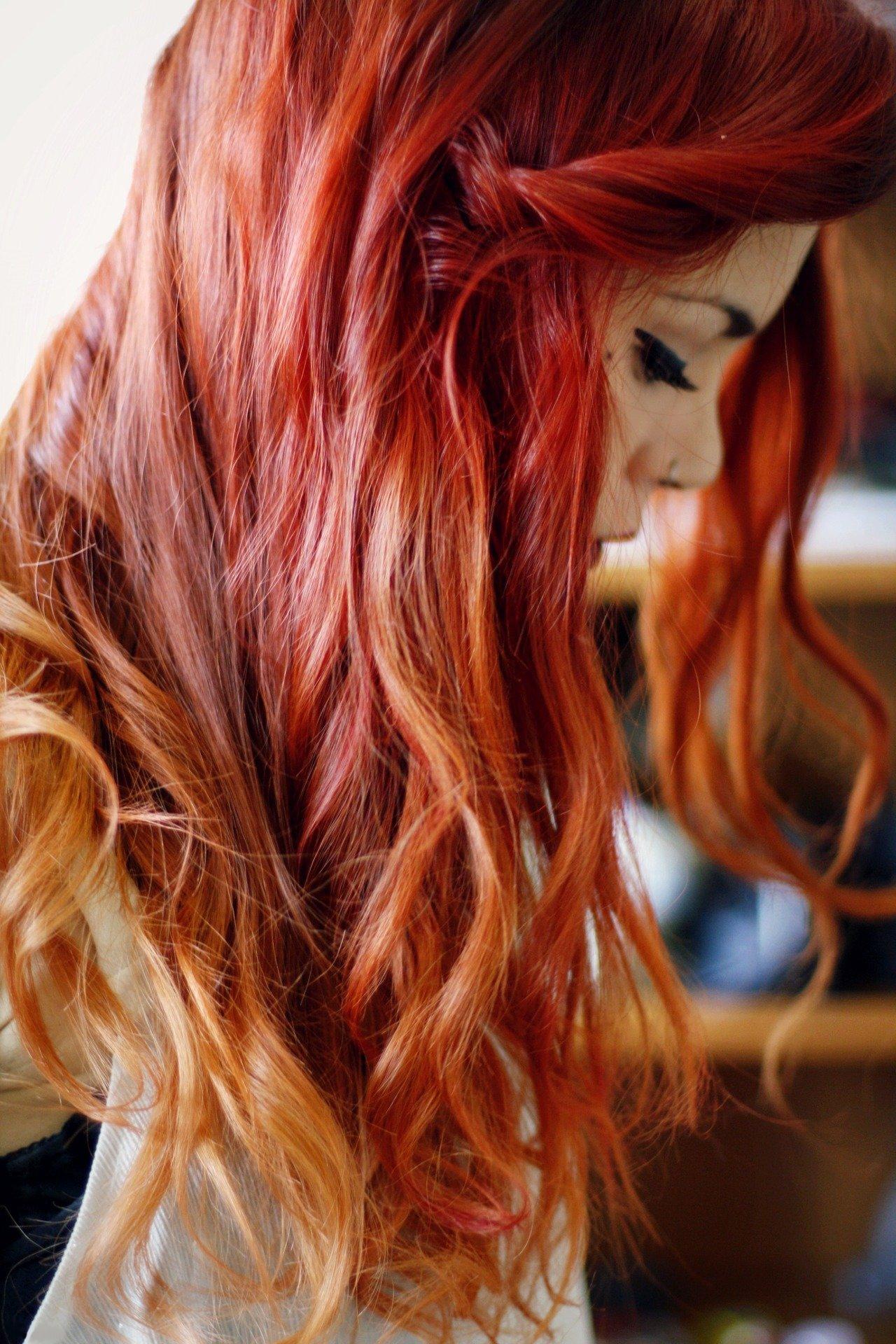 Как волосы сделать ярко рыжими волосами 124