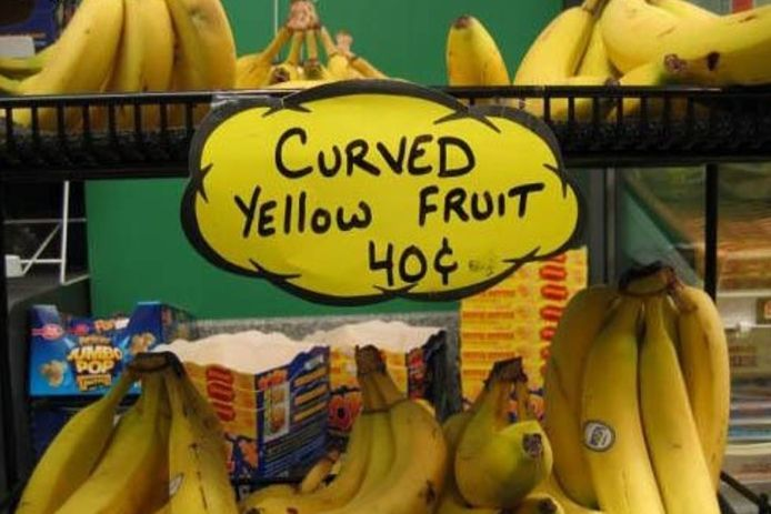 Curved Yello Fruit