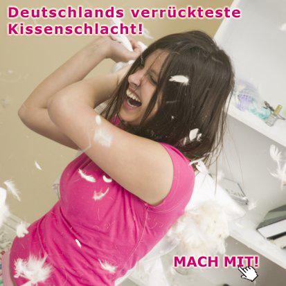 Deutschlands verrückteste Kissenschlacht