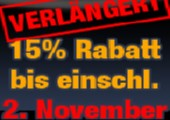 15% Rabatt auf ALLES im Shop