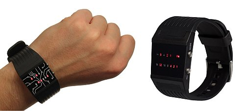 binaere-armbanduhr