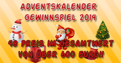 Adventskalender Gewinnspiel 2014